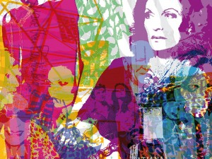 Portrait of Diane von Furstenberg by Phil Macquet