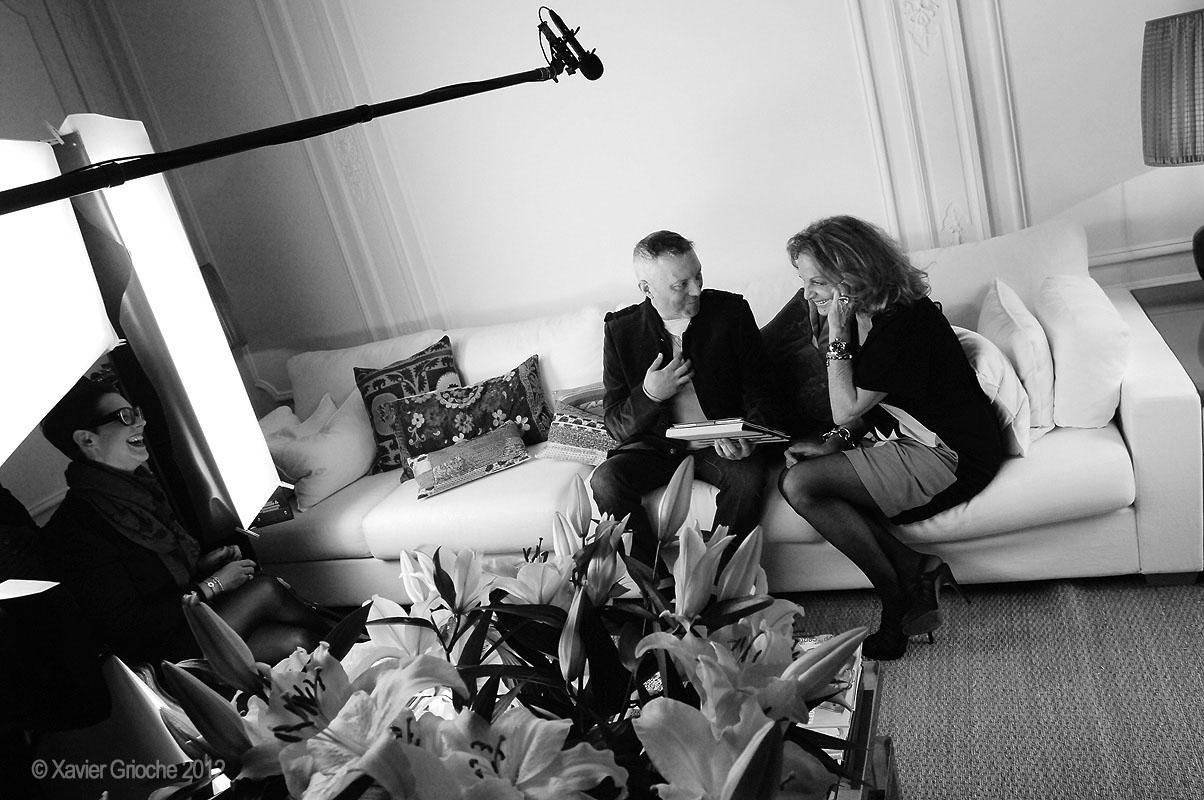 Diane von Furstenberg with Phil.Macquet - portrait