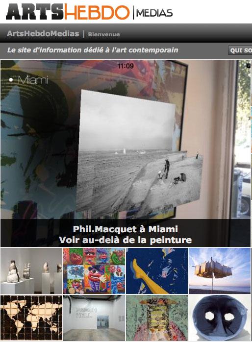 Arts Hebdo Medias : Phil Macquet, voir au delà de la peinture