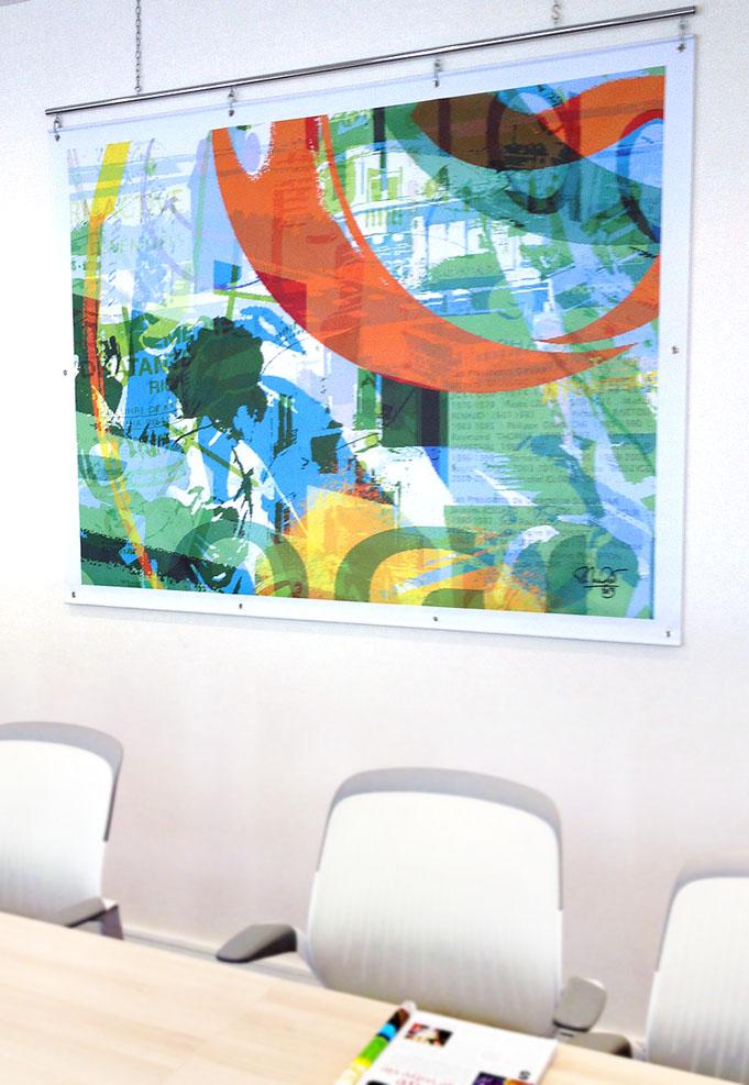 Giphar Commande une toile pour commémorer ses 40 ans